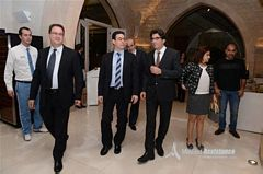Mr.Aoude & Mr. Ishac welcoming Minister Sehnaoui